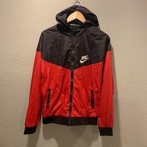 90s Nike Red Black Wind breaker Vintage